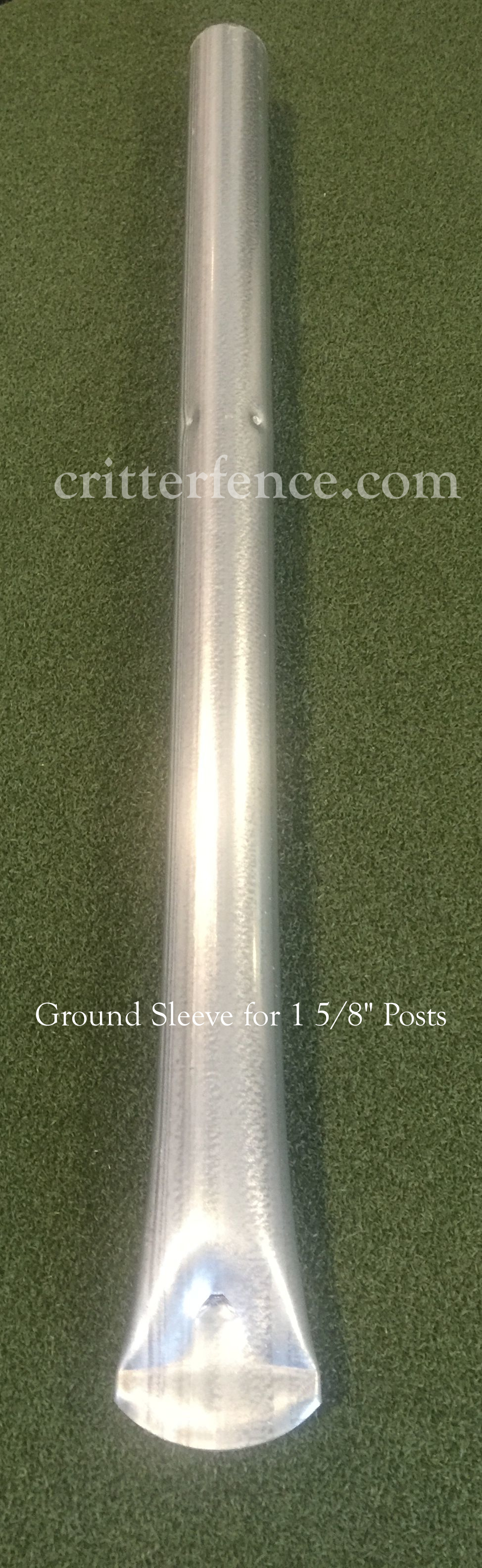 Ground sleeve for 1 5/8 round posts Ground sleeves, post ground sleeves