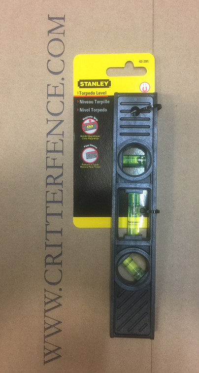 Stanley Magnetic Post Sleeve Torpedo Level Stanley Magnetic Fence Post Torpedo Level