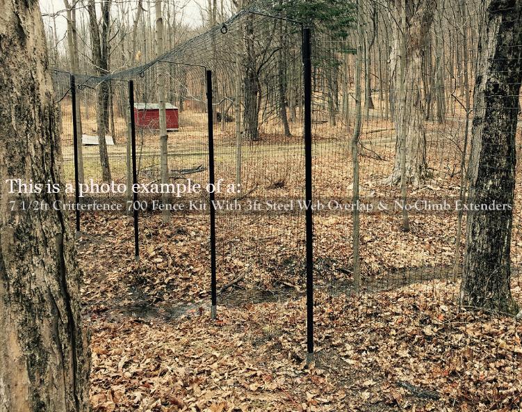 No climb post extender for chain link plain