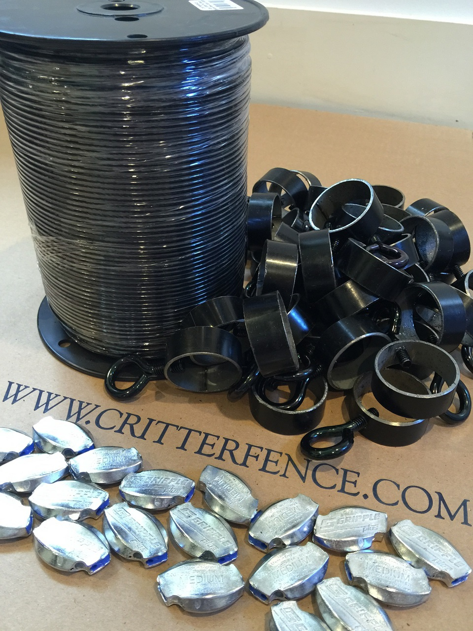 330ft Black Steel Cable Tension Kit 330ft Black Steel Cable Tension Kit