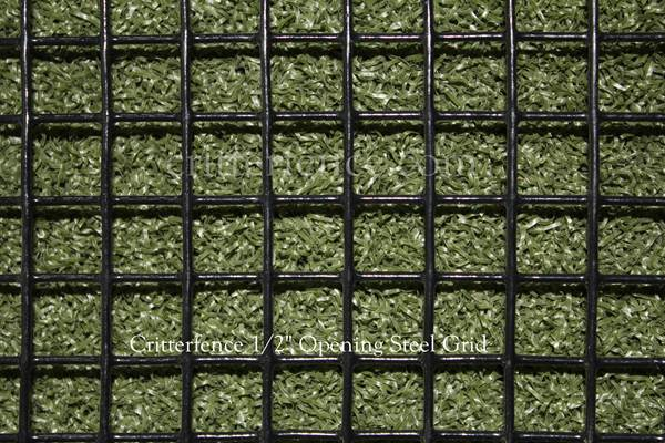 Critterfence Black Steel 1/2 Inch Square Grid 3 x 100 - 685248510360