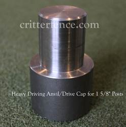 Heavy driving anvil