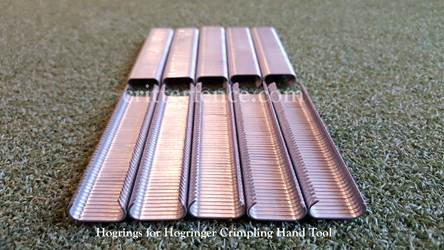 Hogrings for hogringer crimping hand tool 9/16 stainless steel