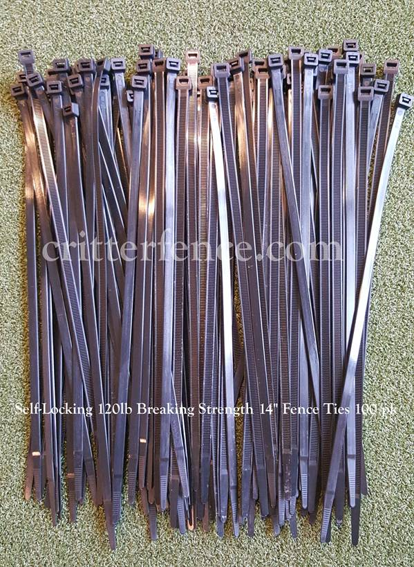 14 inch fence ties self locking