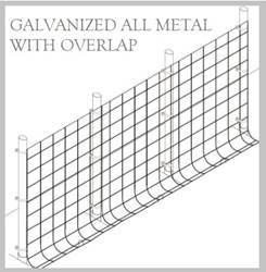Fence Kit O48g (7.5 x 100 All Metal GALV 1.0 Grid) NEW Fence Kit O48G (7.5 x 100 ALL METAL GALV 1.0 Grid)