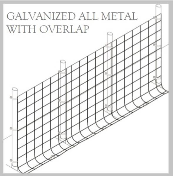 Fence Kit O49g2 (5 x 100 All Metal GALV 2.0 Grid) NEW - 685248509364g2