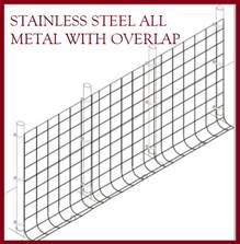 Fence Kit O50s (4 x 100 All Metal STAINLESS 1.5 Grid) NEW