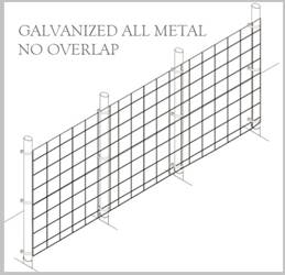 Fence Kit 39g (8 x 100 All Metal GALV 1.0 Grid) NEW Fence Kit 39g (8 x 100 All Metal GALV 1.0 Grid)