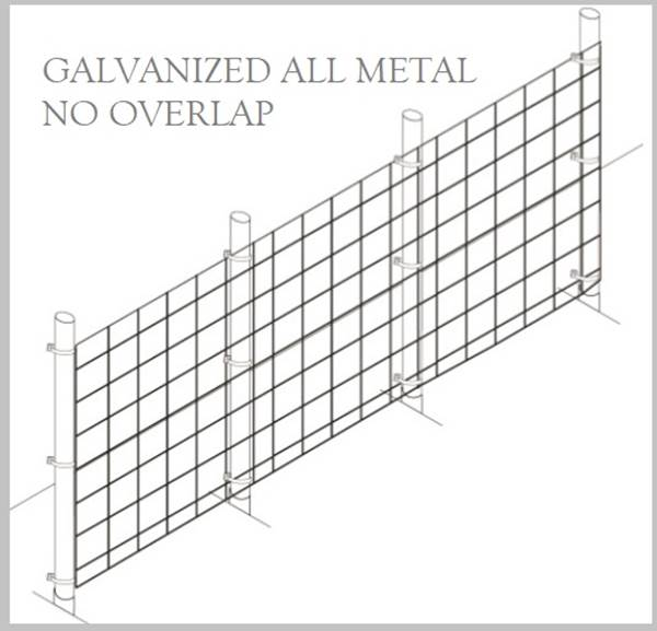 Fence Kit 40g2 (6 x 100 All Metal GALV 2.0 Grid) NEW - 685248509418g2