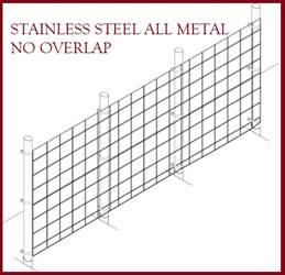 Fence Kit 41s (5 x 100 All Metal STAINLESS 1.5 Grid) NEW Fence Kit 41s (5 x 100 All Metal STAINLESS 1.5 Grid) NEW
