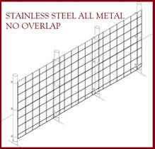 Fence Kit 41s (5 x 100 All Metal STAINLESS 1.5 Grid) NEW