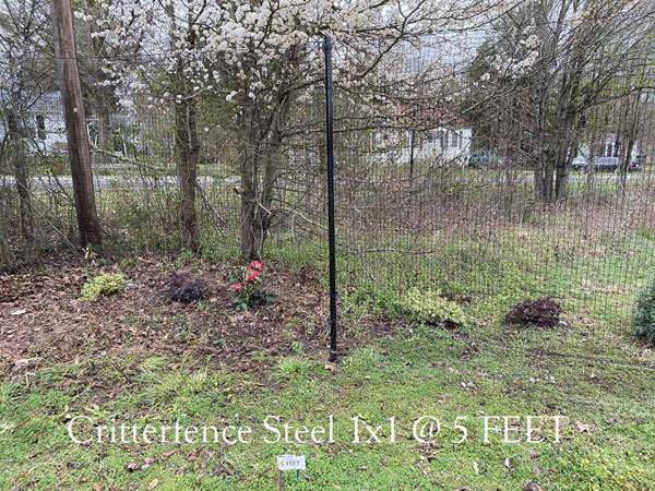Critterfence Black Steel 1 Inch Square Grid 3 x 100 - 685248510476