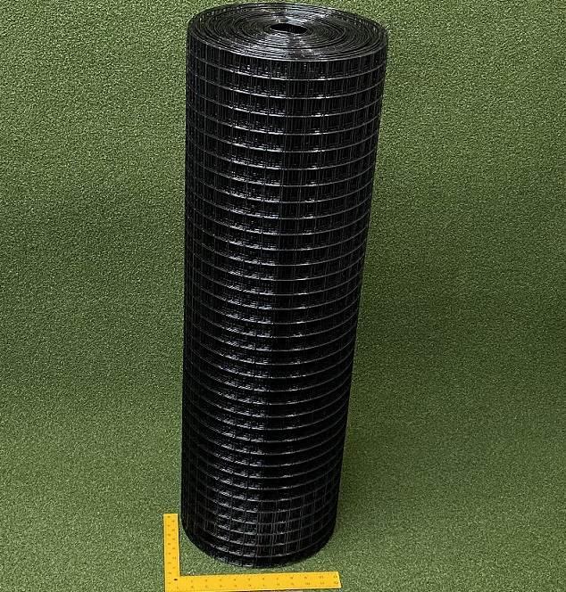"""6/' x 100/' Welded Wire 19ga Deer Animal Fencing Black PVC Coated 1/""""x1/"""" Mesh"""