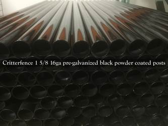 106 in Posts With Cap (No Sleeves) 9 foot black powder coated posts with cap